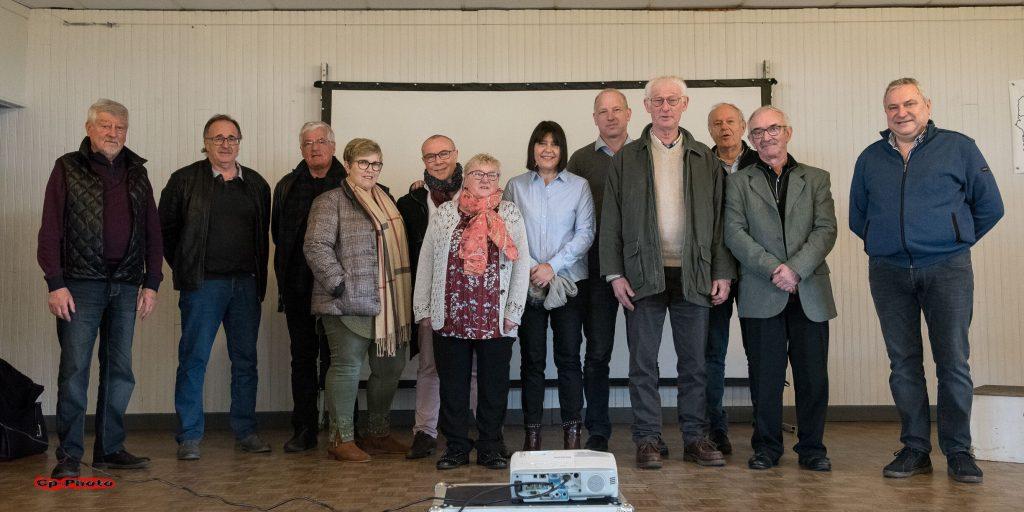 Les officiels et membres du Comité Directeur à la remise des prix 2019 à St Quentin